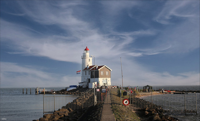 The lighthouse on the island of Marken