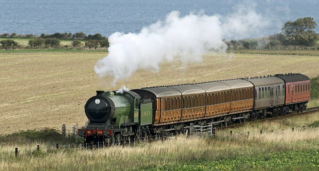 LNER B12  4-6-0 No 8572 heads towards Weybourne on the North Norfolk Railway.