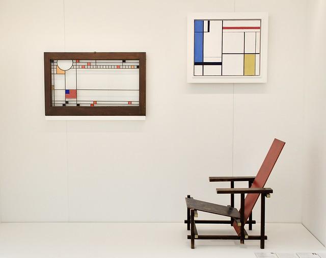 Wright Mondrian Rietveld