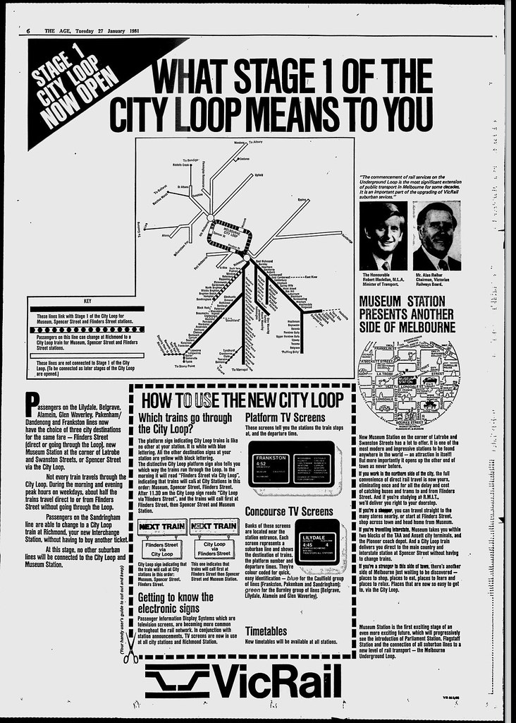 The Age 27/1/1981 - What Stage 1 of the City Loop Means To You