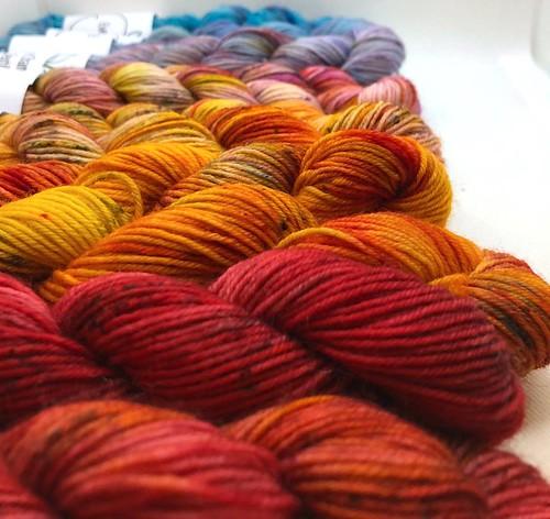 Eve Chambers Textiles Sunset Mini Skein Set 1