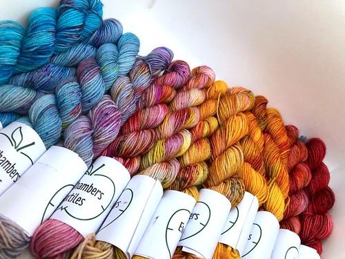 Eve Chambers Textiles Sunset Mini Skein Set 3