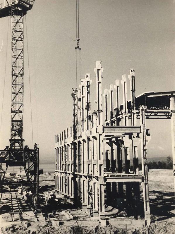 7 Начало строительства Амурской ТЭЦ-1, 1962 год.