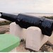 6in gun probably a Mk II; damaged barrel on The Strand at Rosslare, Co Wexford, Ireland.