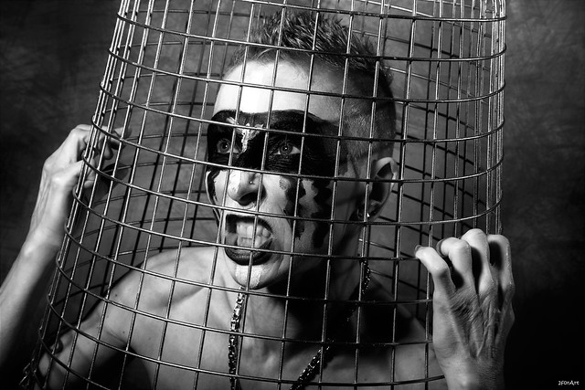 Caged in ...