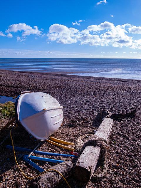 Beach  Saltcombe boat
