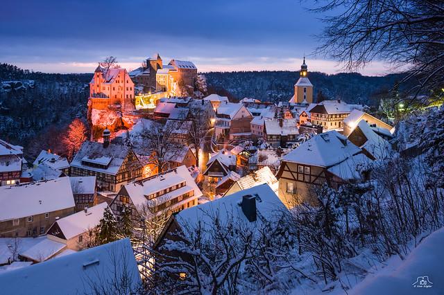Winterabend in Hohnstein