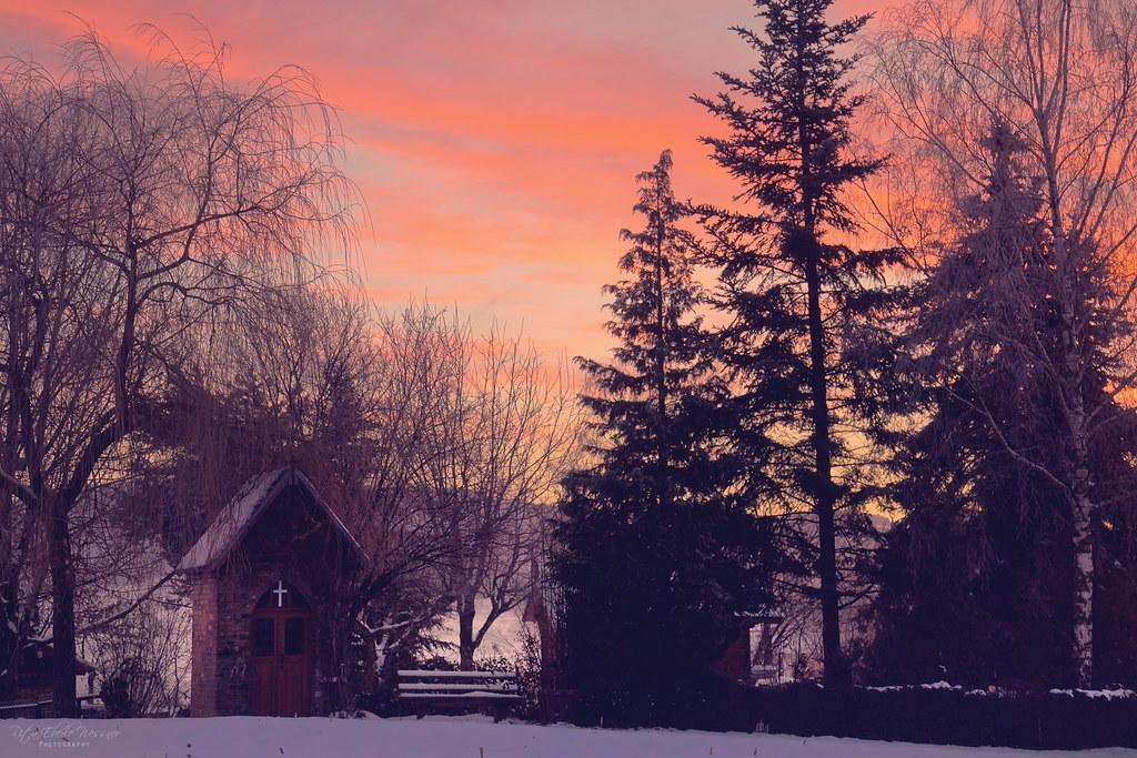 Little chapel at dawn