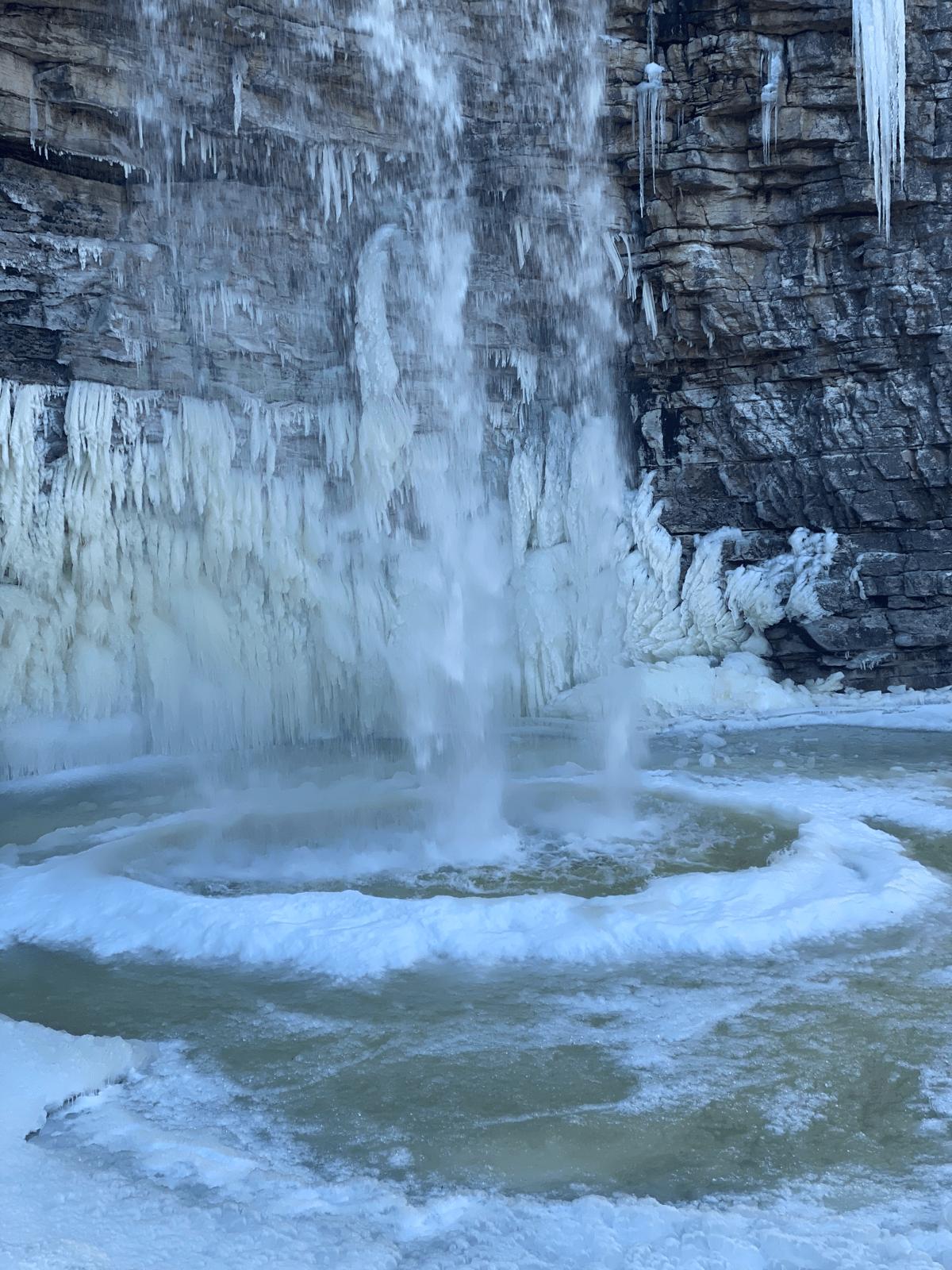 Awosting Falls pool