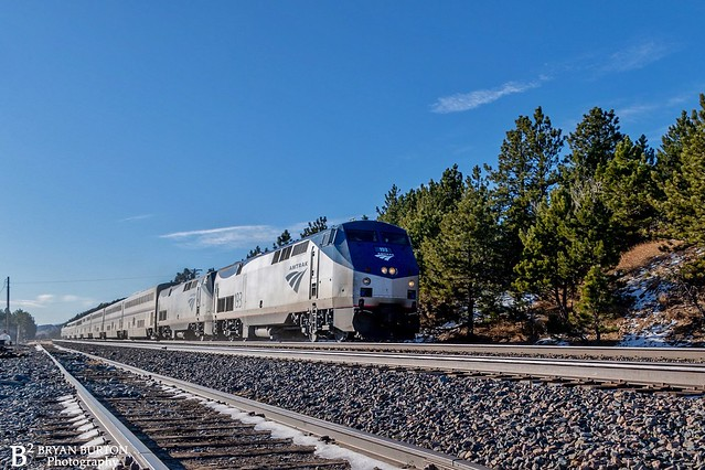Amtrak California Zephyr at Plainview on the Moffat. 1/3/2021.