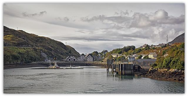 Tarbert Ferry Port..