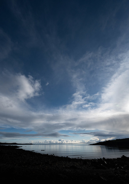 Clouds over the English Lake District from Galloway, Scotland