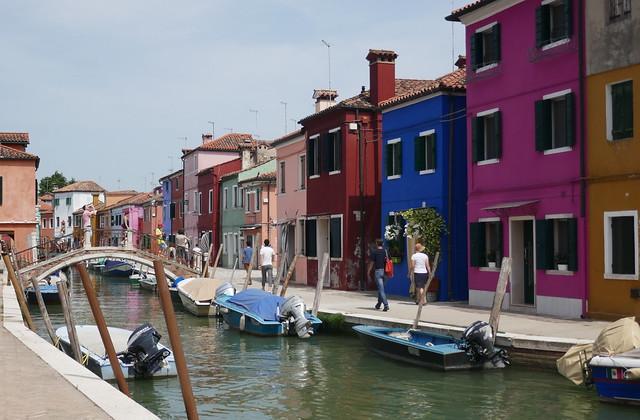 Les couleurs vénitiennes, Burano, lagune de Venise, Vénétie, Italie.