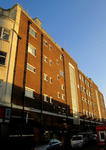 Side of Art Deco Building, Sunderland,