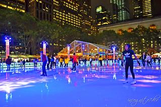 Ice Skating Rink at Bryant Park's Winter Village Midtown Manhattan New York City NY P00782 DSC_3574