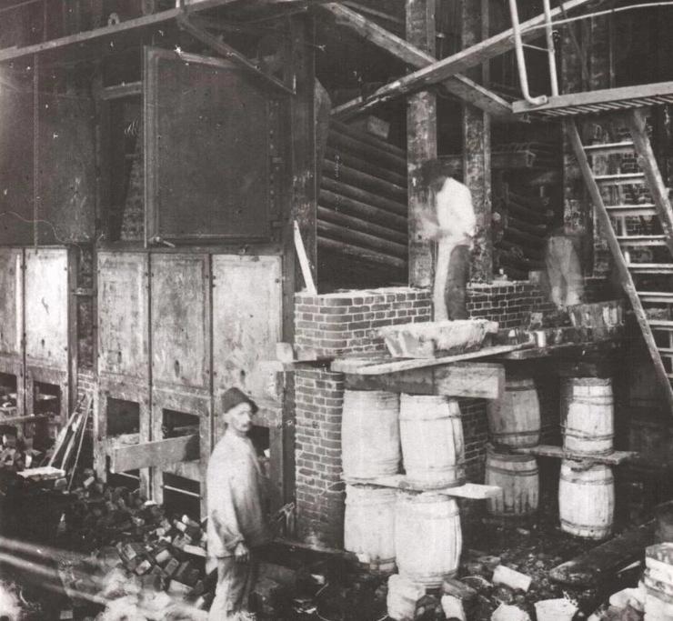11 Кладка котла Фитцнер и Гемпер, 1927 год