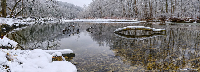 Winter River Panorama by Theodore Tollefson Fine Art Photography