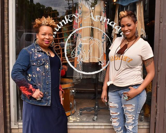 The ladies at Chunky Armadillo, Columbus, Ohio,  May, 2019