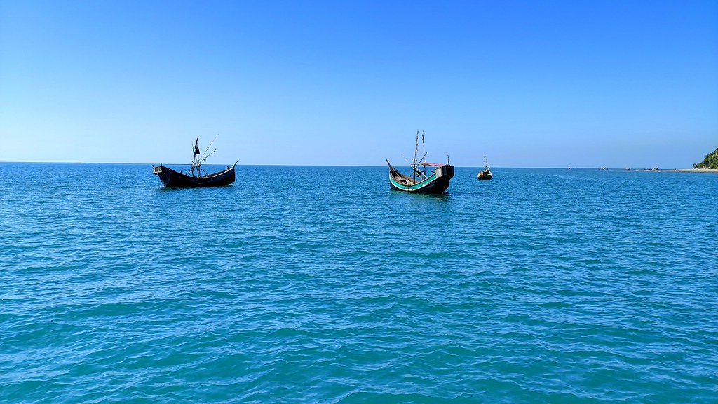 Saint martin boat view
