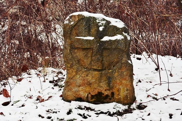 Medieval stone cross at Liebenburg, Lower Saxony, Germany