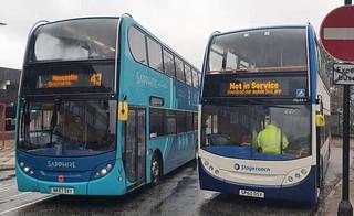 Arriva North East ADL Enviro400 Sapphire NK57 DXY & Stagecoach North East ADL Enviro400 SP60 DSV
