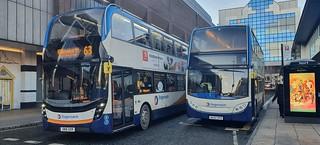 Stagecoach North East ADL Enviro400 MMC SN16 OXR & ADL Enviro400 NK60 DPN seen at Blackett Street