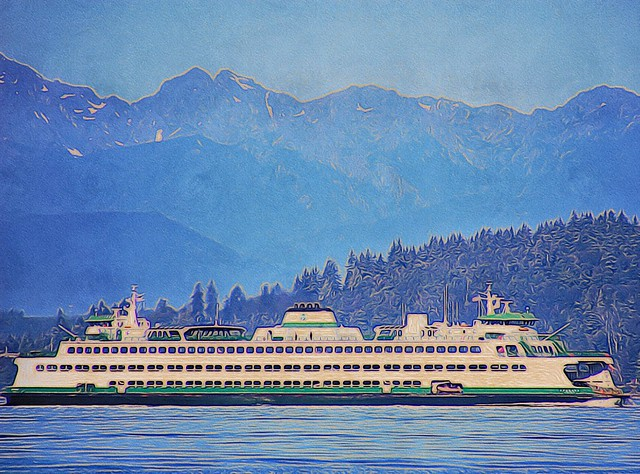 Ferry boat on Puget Sound