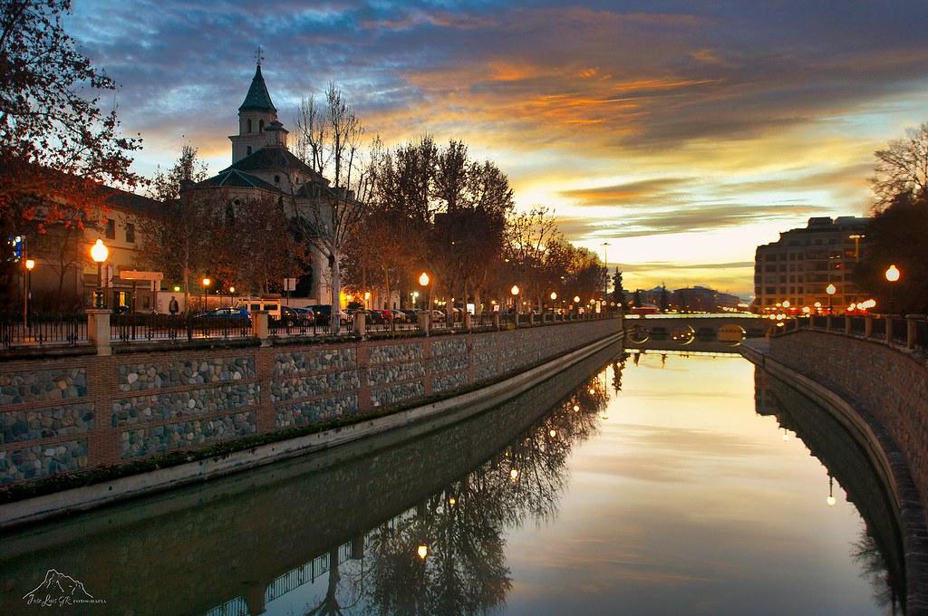 Rio Genil a su paso por los Escolapios, Granada