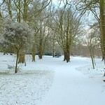 Snowy Ashton Park in Preston