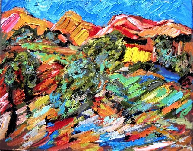 Impasto Landscape.