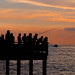 Fishermen at sunset on Male pier