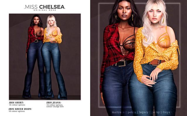 .miss chelsea. ibis shirt, body & jeans - soon @ Uber!