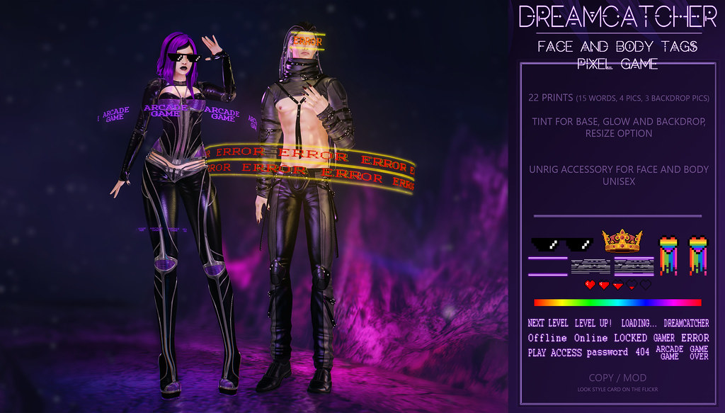 DREAMCATCHER // Face and body tags – Pixel Game @ Mainframe