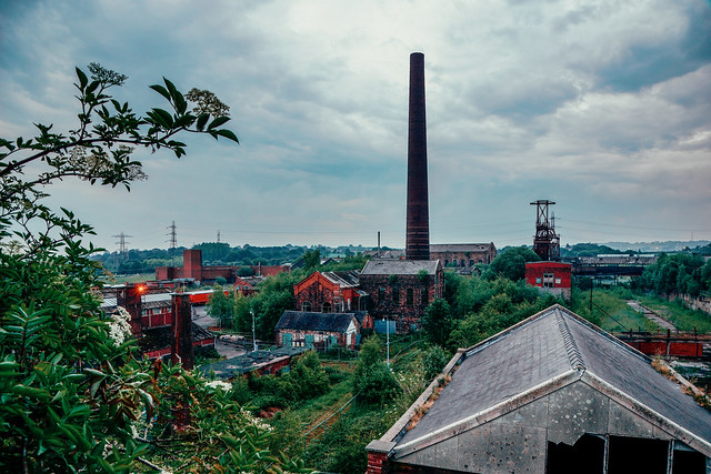 Chatterley Whitfield Colliery from the Summit of Winstanley Headstock.