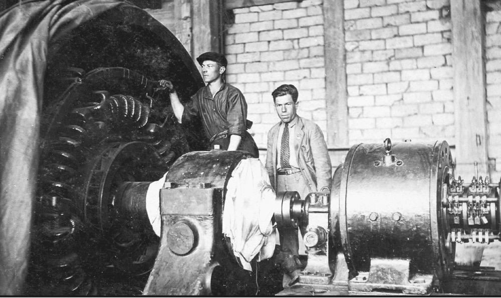 2 Монтаж первой турбины Артемовской ГРЭС (1936)
