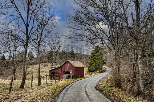 barn road ruralwinter landscape farm fence bobbell nikon d800 monroecounty wv westvirginia