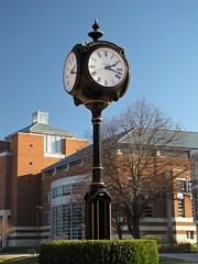 Clock at Rowan University
