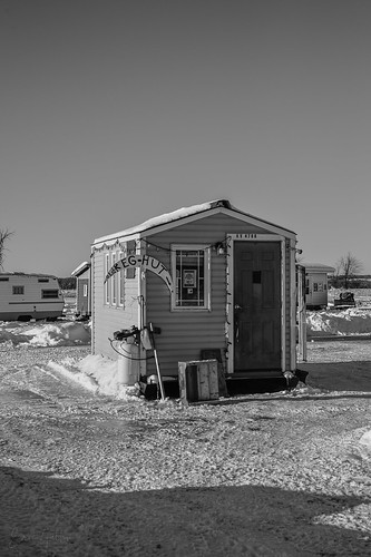 Ice Fishing Cabin, Petrie Island, Ottawa (Orleans), Ontario, Canada | by Classicpixel (Eric Galton) Photography Portfolio