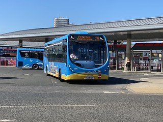 Go North East Depford Based Wright Streetlite 5375(NL63 XBF) Seen At Sunderland Park Lane Interchange While Working The X6 To Peterlee 1/6/20