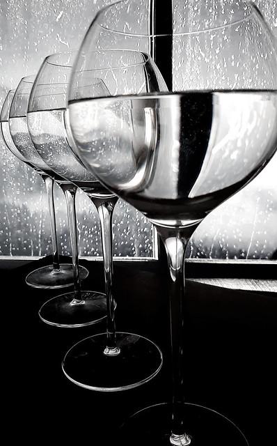 Through The Wine Glasses