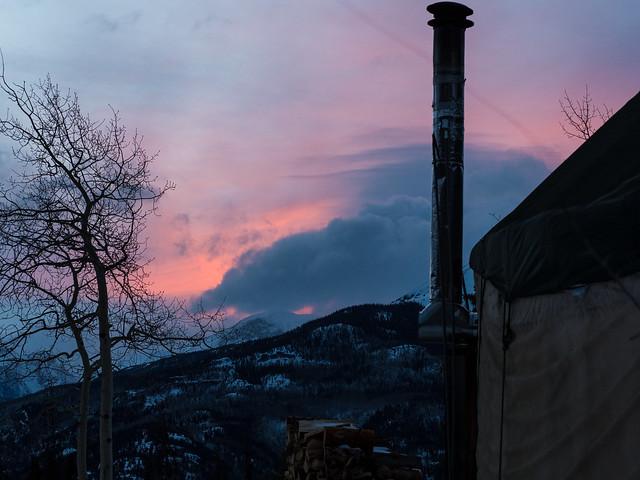 22/365 - yurt sunset