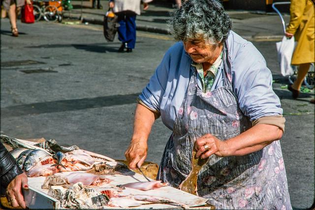 Dublin 1977 #8 Open Market Fishmonger