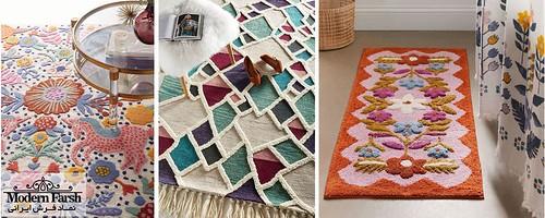 فرش هندتافت یا نیمه دست بافت چیست؟