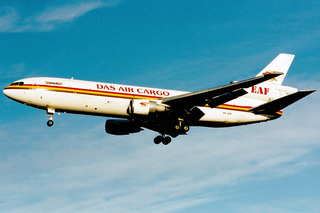 DAS Air Cargo | McDonnell Douglas DC-10-30F | 5X-JOE | London Gatwick