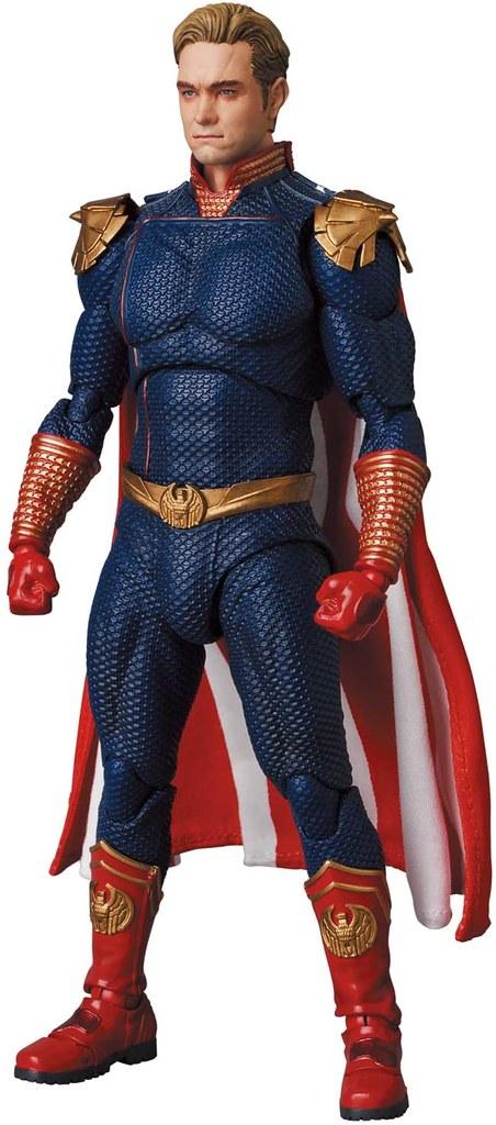 MAFEX《黑袍糾察隊》七巨頭之首「護國超人」6 吋可動人偶 披著偽善外衣的病態英雄降臨!