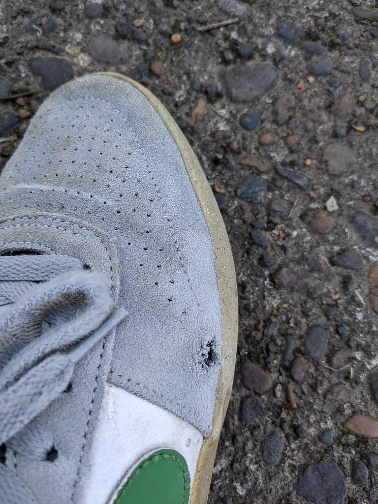 Hole on my skateshoes