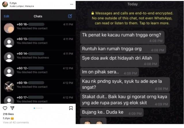 Kekasih Gelap Shuk Dapat Mesej Makian Netizen Selepas Nombor Telefon Tersebar