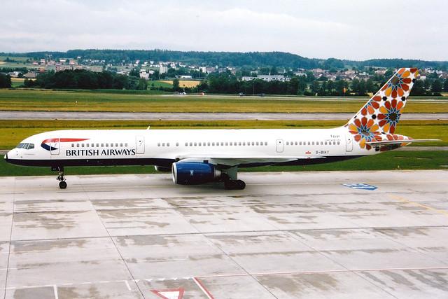 British Airways | Boeing 757-200 | G-BIKT | Crossing Borders | Zurich Kloten