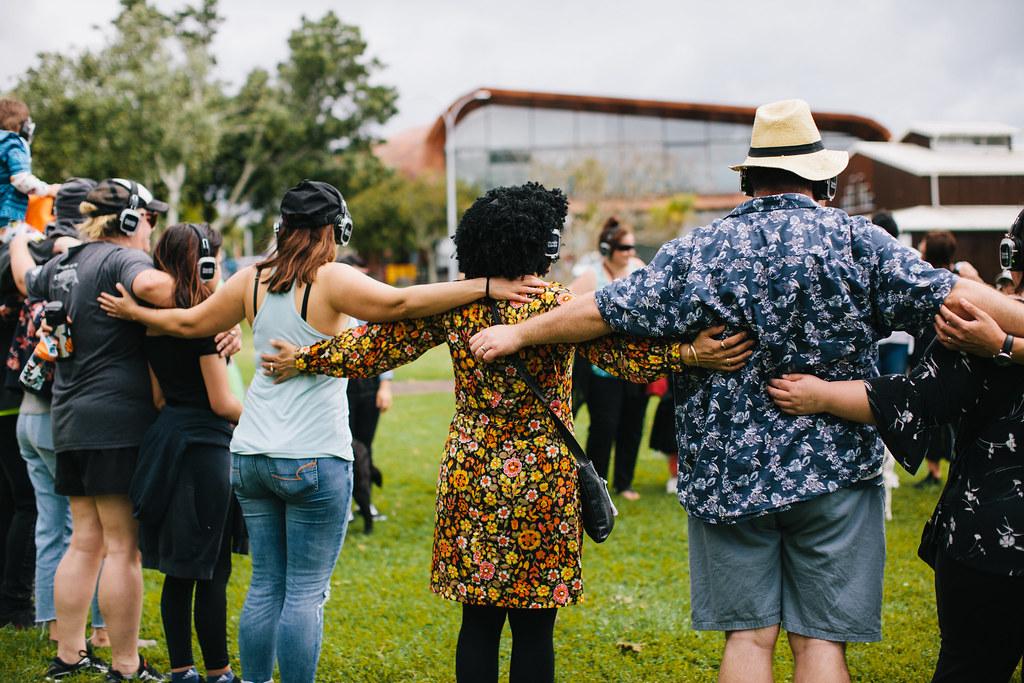 Silent Disco Citywalk Group Hug