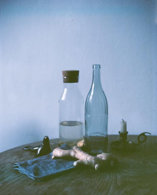Ginger, Water, Bottles